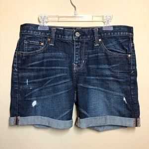 Gap sexy boyfriend shorts distressed cuffed